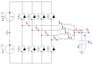 Convertisseur à 4 cellules parallèles