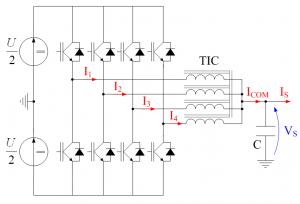 Convertisseur à 4 cellules parallèles couplées
